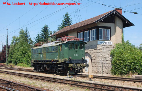 Foto zeigt: E 44 508 in Freilassing