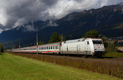 am Foto: DB 101.034 mit EuroCity (Hall in Tirol)
