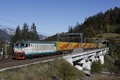 am Foto: FS E652.098 mit Nothegger-Containerzug bei Tarvisio-Boscoverde