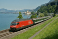 am Foto: SBB Re 460.083 mit InteRegio bei Montreux