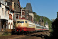 am Foto: DB 103.113 mit InterCity (Bacharach)