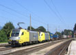 am Foto: Privatbahn - Locomotion - ES64U2-037 + ES64U2-042 (Brixlegg)