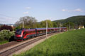 am Foto: 1116.201 Railjet mit Messwagengarnitur