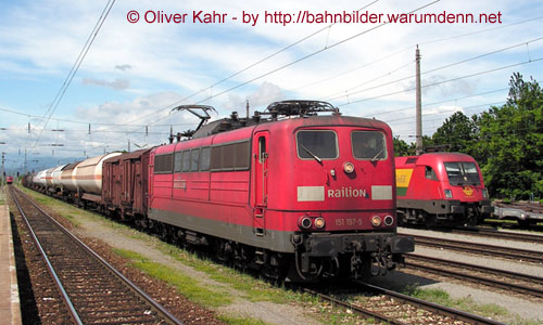 Foto zeigt: DB 151 in Ebenfurth