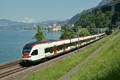 Foto zeigt: SBB RABe 523.028 (Montreux / Genfer See)