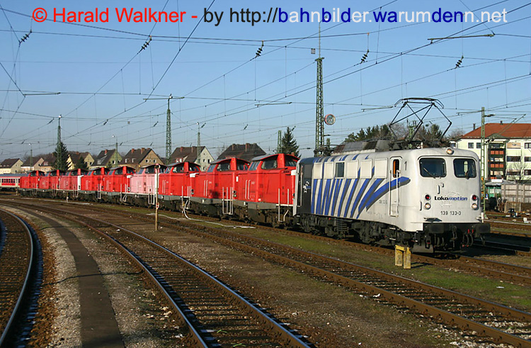 Foto zeigt Privatbahn - Locomotion - 139 133 + 9 Stk  212 (Freilassing)