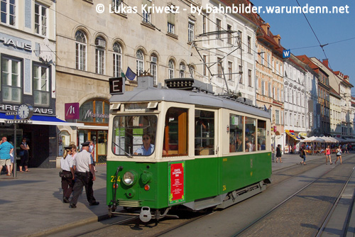 Foto zeigt: Shopping-Bim in Graz